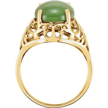Nephrite Jade Openwork Ring