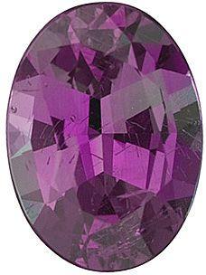 Oval Cut Genuine Alexandrite in Grade GEM
