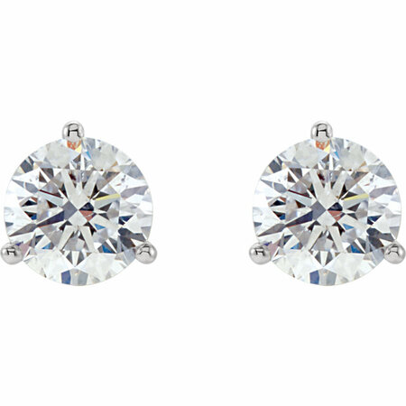 Platinum 1 1/2 CTW Diamond Stud Earrings