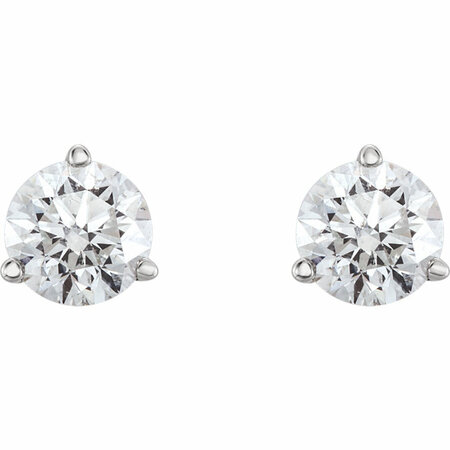 Platinum 3/4 CTW Diamond Earrings