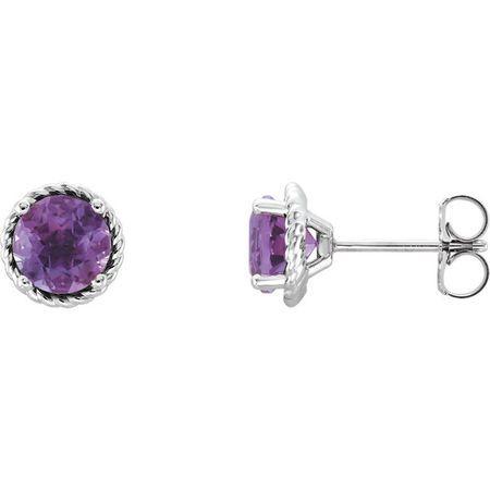 Great Gift in Platinum Amethyst Rope Earrings