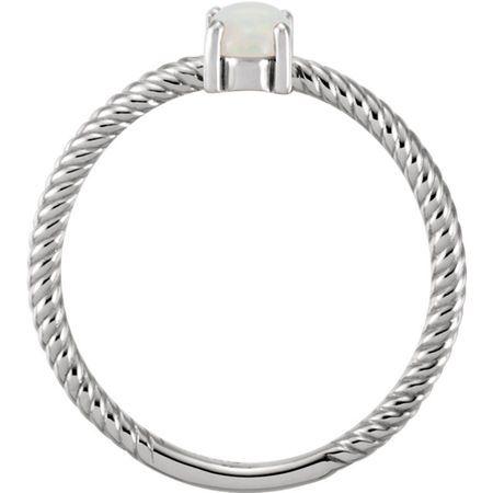 Platinum Opal Cabochon Ring