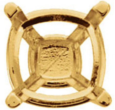 Popular 14kt Gold 4-Prong Peg Setting for Antique Square Gemstone Sized 3.50 mm to 10.00 mm