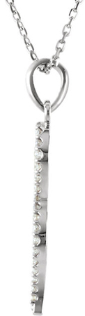 Slithering Sleek Snake Diamond Pendant in 14k Gold - 1/6ct tw Diamonds - FREE Chain