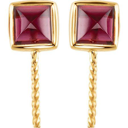 South Sea Cultured Pearl and Rhodolite Garnet Earrings