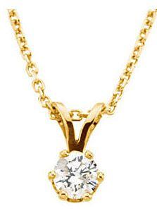 Sparkling .25ct Diamond Solitaire Pendant - Choose Diamond Size - Choose Metal Color - FREE Chain