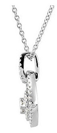 Spectacular11/3ct Double Halo Frame Diamond Studded 14k White Gold Pendant - FREE Chain Included
