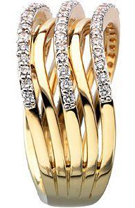 Splendid 0.50 Carat Total Weight 1.20 mm Diamond Ring set in 14 karat Yellow Gold
