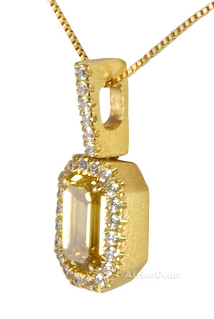 Unusually Fine HTHP Yellow Diamond Designer Necklace by Christoph - 18 kt Yellow Gold - SOLD