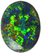 Incredible Colors in Black Lighting Ridge Opal, See Intense Blue, Green, Orange & Yellow, 16.2 x 12.6 mm, 5.74 carats - SOLD
