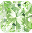 So Bright Minty Green Radiant Cut Tourmaline Gem, 6.9 mm, 1.64 carats