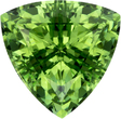 Bright Mint Green Tourmaline Trillion Gem in Rich Mint Green Color, 10.5 mm, 3.98 carats