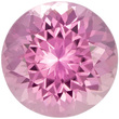 Fiery Round Pink Tourmaline Loose Gem in Round Cut, Pure Medium Pink, 6.9 mm, 1.29 carats