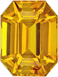 Classic Golden Yellow Sapphire in Emerald Cut, Vivid Golden Yellow Color in 7.7 x 5.8 mm, 2.04 carats