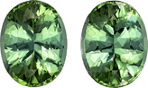 Stunning Size - Color - Cut in Minty Green Tourmaline Pair in Oval Cut, 14.3 x 11 mm, 14.23 carats