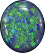 Beautiful Black Opal Loose Gem in Oval Cut, Great Polish & Cut, 9.2 x 7.8 mm, 2.13 carats