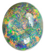 Mesmerizing, Great Pin Fire Pattern, Australian Black Opal, Lighting Ridge, Oval Cut, 9.71 carats