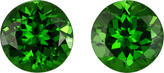 Fiery Tsavorite Garnets in Well Matched Pair in Round Cut, 5 mm, 1.17 Carats
