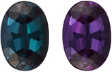 0.84 carats Alexandrite Oval Gemstone GIA Certified Super Gem in Vivid Teal Blue Green to Burgundy, 6.9 x 4.9 mm