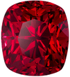 Rare Red Spinel Loose Super Fine Gem in Intense Rich Red Color, 7.9 x 7.2 mm, 3.04 carats