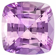 1.55 carats - GIA Certified No Treatment Pink Sapphire Gemstone in Cushion Cut, Light Pink, 6.6 x 6.5 mm