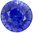 Bright & Lively Sapphire Loose Gemstone in Round Cut, Rich Blue, 6 mm, 1.28 carats