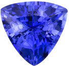 Bright & Lively Sapphire Loose Gemstone in Trillion Cut, Vivid Rich Blue, 5.5 mm, 0.74 carats