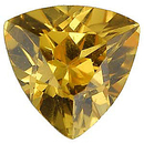Imitation Citrine Trillion Cut Gems