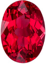 Calibrated Size Spinel Loose Gem in Oval Cut, Rich Open Red, 7.1 x 5 mm, 0.93 carats