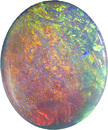 Crystal Semi Black Opal Loose Gem in Oval Cut, All Colors of the Rainbow, 20.5 x 16.9 mm, 10.43 carats - SOLD