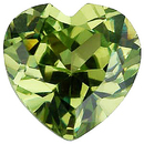 Imitation Peridot Heart Cut Gems