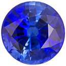 Loose Extremely Rich Intense Blue Sapphire Loose Gemstone in Round Cut, Intense Color & Clarity in 8.3 mm, 3.02 carats