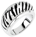 Onyx Zebra Design Ring