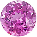 Super Gemmy Vietnam Spinel Round Cut, Medium Rich Pure Pink, 6.1 mm, 1.15 carats