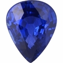 Nice Looking Sapphire Loose Gem in Pear Cut, Vibrant Violet Blue, 8.99 x 6.99  mm, 1.77 Carats