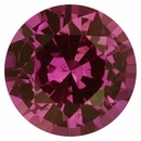 Very Fine Sapphire Loose Gem in Round Cut, Light Purple Pink, 6.78 mm, 1.43 Carats