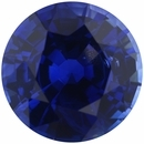 Good Looking Sapphire Loose Gem in Round Cut, Vibrant Violet Blue, 7.29 mm, 1.83 Carats
