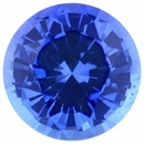 Faceted Sapphire Loose Gem in Round Cut, Light Violet Blue, 7 mm, 1.57 Carats