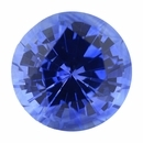Beautiful Sapphire Loose Gem in Round Cut, Light Violet Blue, 6 mm, 1.06 Carats