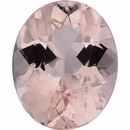 Gorgeous Morganite Loose Gem in Oval Cut, Light Purple Red, 9.96 x 8.00  mm, 2.26 Carats