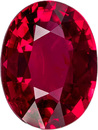 Unheated  Red Ruby Loose Mozambique Gem in Oval Cut, 7.0 x 5.3 mm, 1.04 Carats - With GRS Certficate