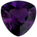 Imitation Amethyst Trillion Cut Gems