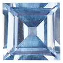Imitation Aquamarine Square Cut Gems