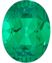 Grade GEM CHATHAM CREATED EMERALD Oval Cut Gems  - Calibrated