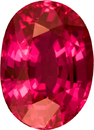 Unheated Ruby Oval Gem in Oval Cut, Rich Pinkish Red Color in 8.6 x 6.2 mm, 2.28 carats - GJIT Certified - SOLD