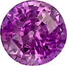 No Treatment Intense Pure Pink Sapphire Gem in Round Cut, 6.95 x 4.99 mm, 1.82 carats