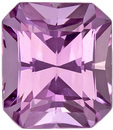 Bright Light Pink Lavender Colored Spinel in Radiant Cut, Super Cut & Clarityin 7.3 x 6.4 mm, 1.82 carats