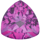 Imitation Pink Tourmaline Trillion Cut Gems