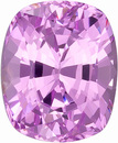 Very Lively Unheated Lavender Pink Spinel Gemstone from Ceylon, Cushion Cut, 2.43 carats