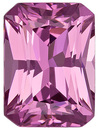 Classic Lavender Pink Spinel Genuine Gemstone from Tanzania, Radiant Cut, 1.68 carats